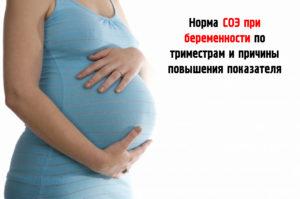 норма СОЭ при беременности во 2 триместре