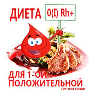питание при 1 положительной группе крови